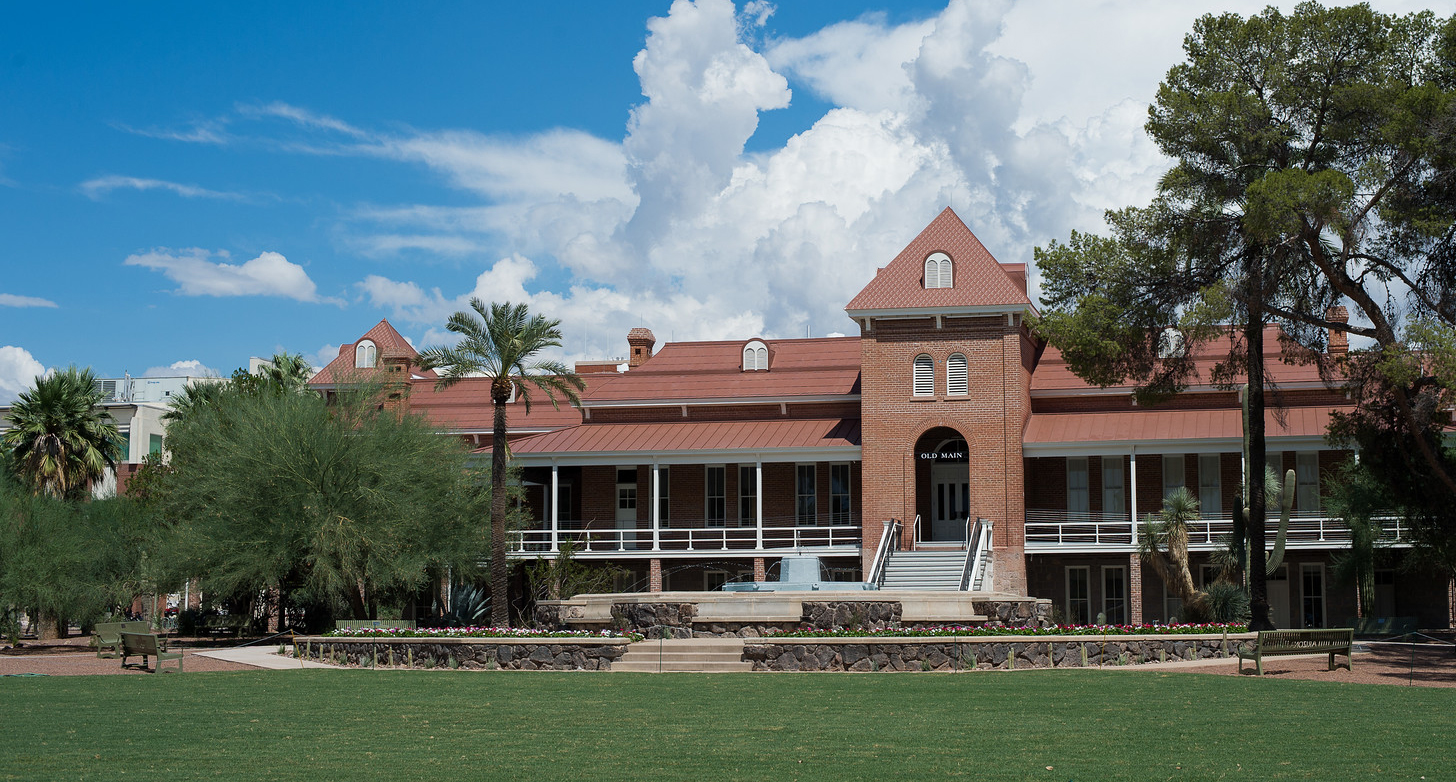 Photo of Old Main at the University of Arizona